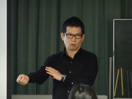 講演する株式会社ドリームアーツ 社長 山本 孝昭 氏
