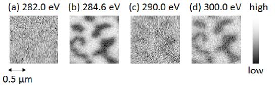 A膜の軟X線吸収強度イメージ