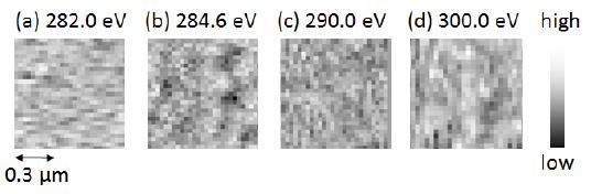 B膜の軟X線吸収強度イメージ