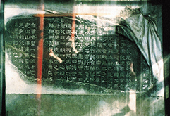 後漢・熹平4年(175)から8年をかけて都洛陽の国立儒教学校前に立てられた経書本文石碑(「石経」)の「易経」部分残石