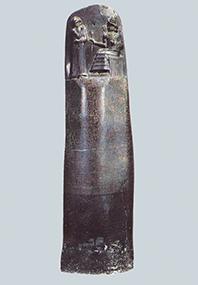ハムラビ法典Jの原寸大レプリカ