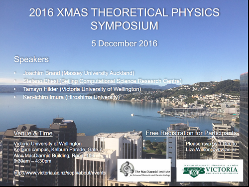 2016 Xmas Theoretical Physics Symposium