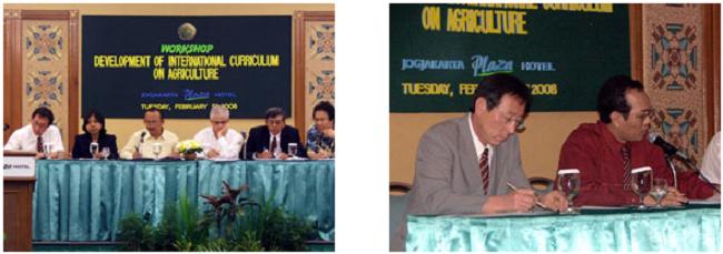 左:ワークショップの様子 右:前田教授(左)