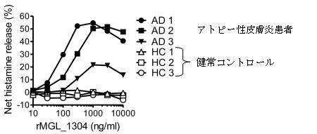 図2組換えMGL_1304でヒト末梢血好塩基球を刺激