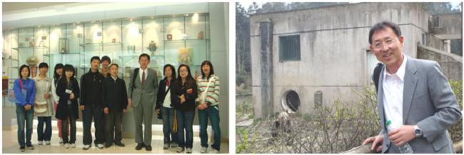 左:展示室にて 右:雅安のパンダ保護区にて