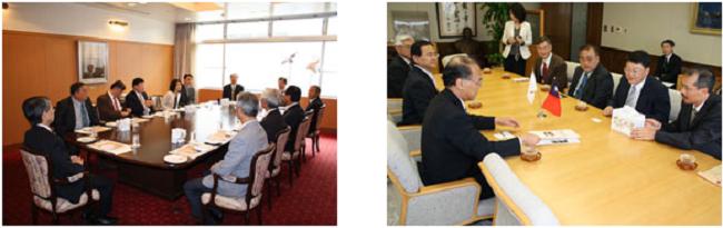 左:昼食会 右:浅原利正学長を表敬訪問