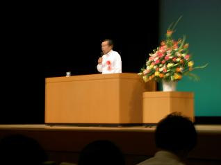 講演する田中主任視学官