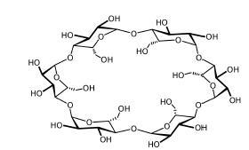 シクロデキストリンの化学構造 画像