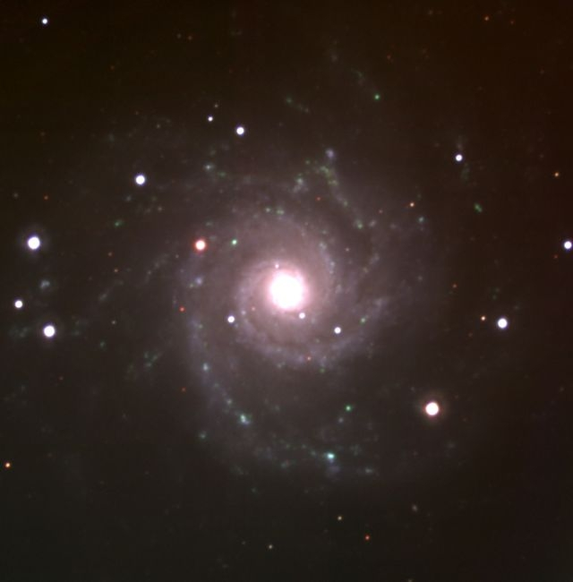 M74 (うお座 渦巻き銀河; フェイスオン銀河)
