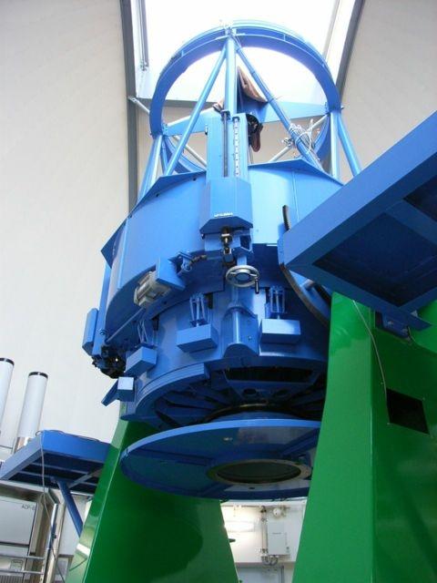 ほぼ完成した、かなた望遠鏡の様子