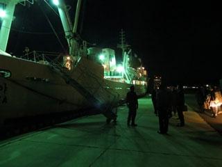 韓国釜慶国立大学校水産科学大学の練習船「Kaya号」が来広