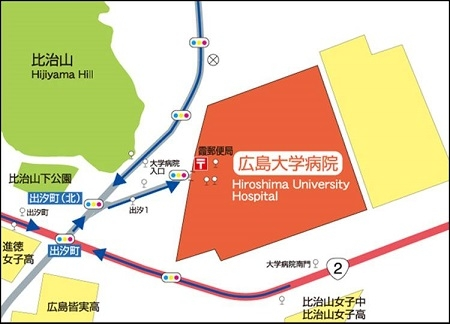 病院周辺地図