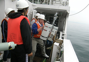 Field observation by training vessel