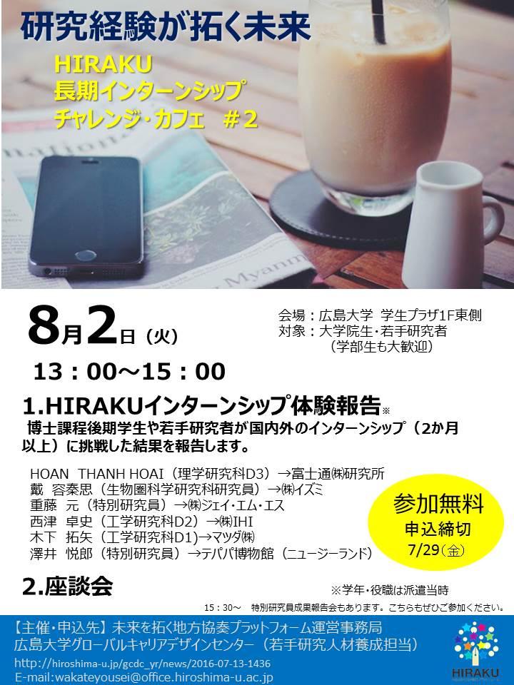 第2回 HIRAKU長期インターンシップ チャレンジカフェ