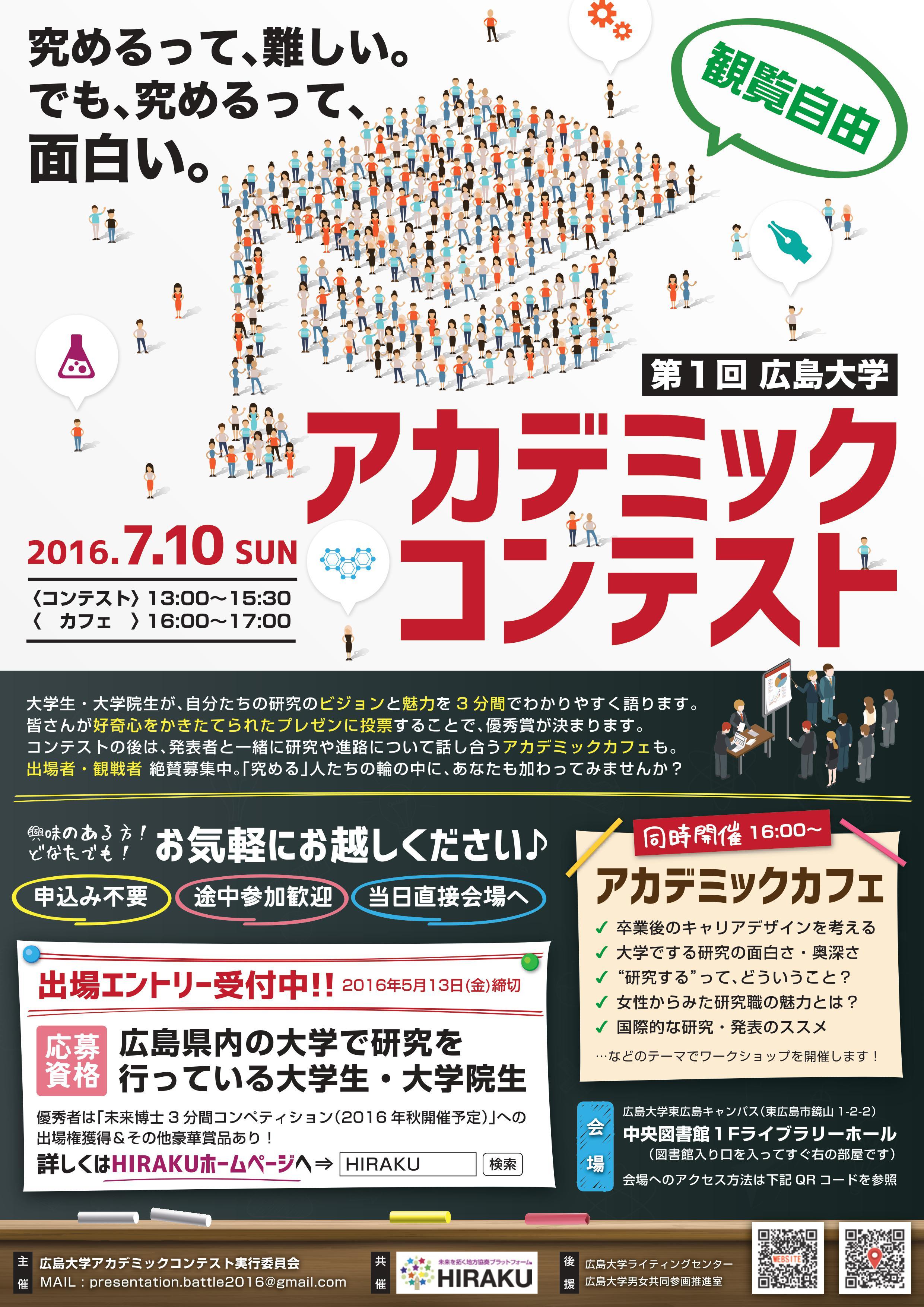 第1回広島大学アカデミックコンテスト