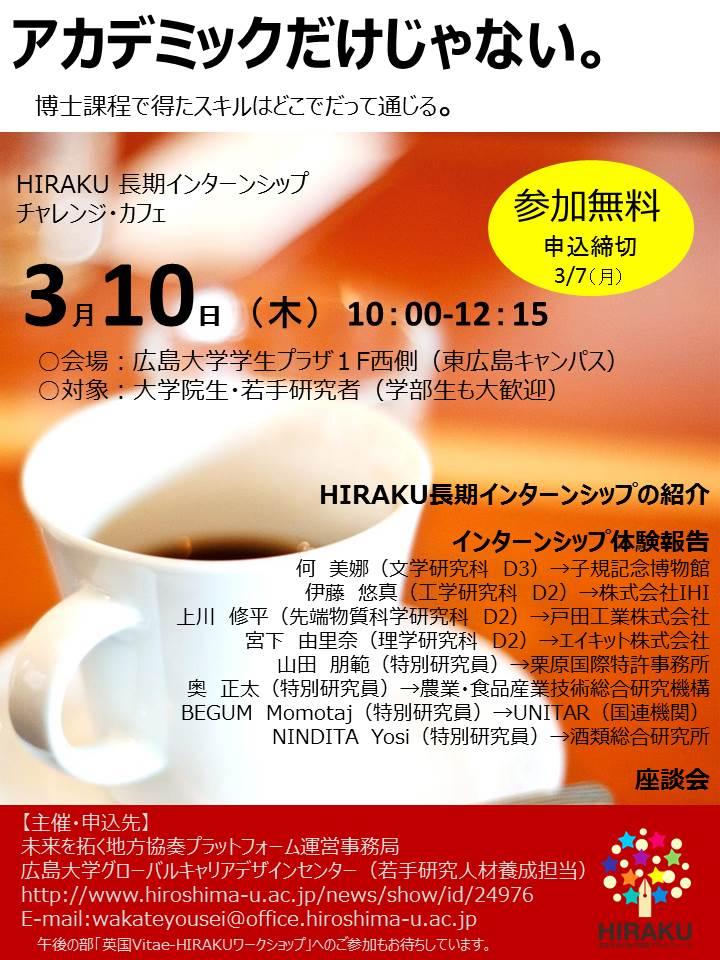 HIRAKU 長期インターンシップ チャレンジ・カフェ
