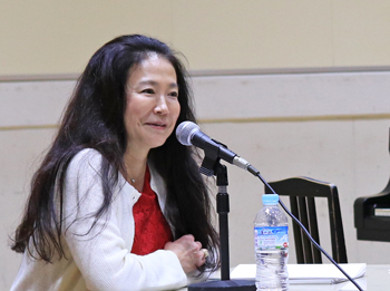 Soprano Singer and Hiroshima University Visiting Professor Michie