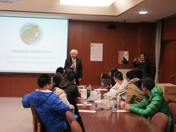 Top Chinese High School Students Enjoy Hiroshima University Fellowship Visit