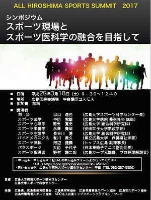 ALL HIROSHIMA SPORTS SUMMIT 2017ポスター