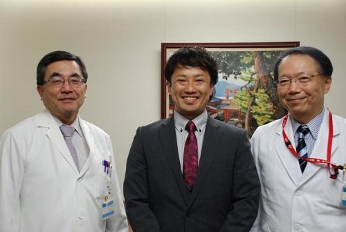 平川病院長、木村助教、田妻診療科長(左から)