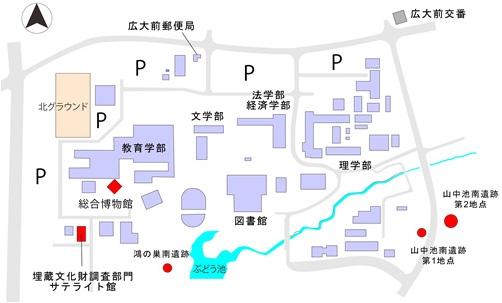 東広島キャンパス建物配置図