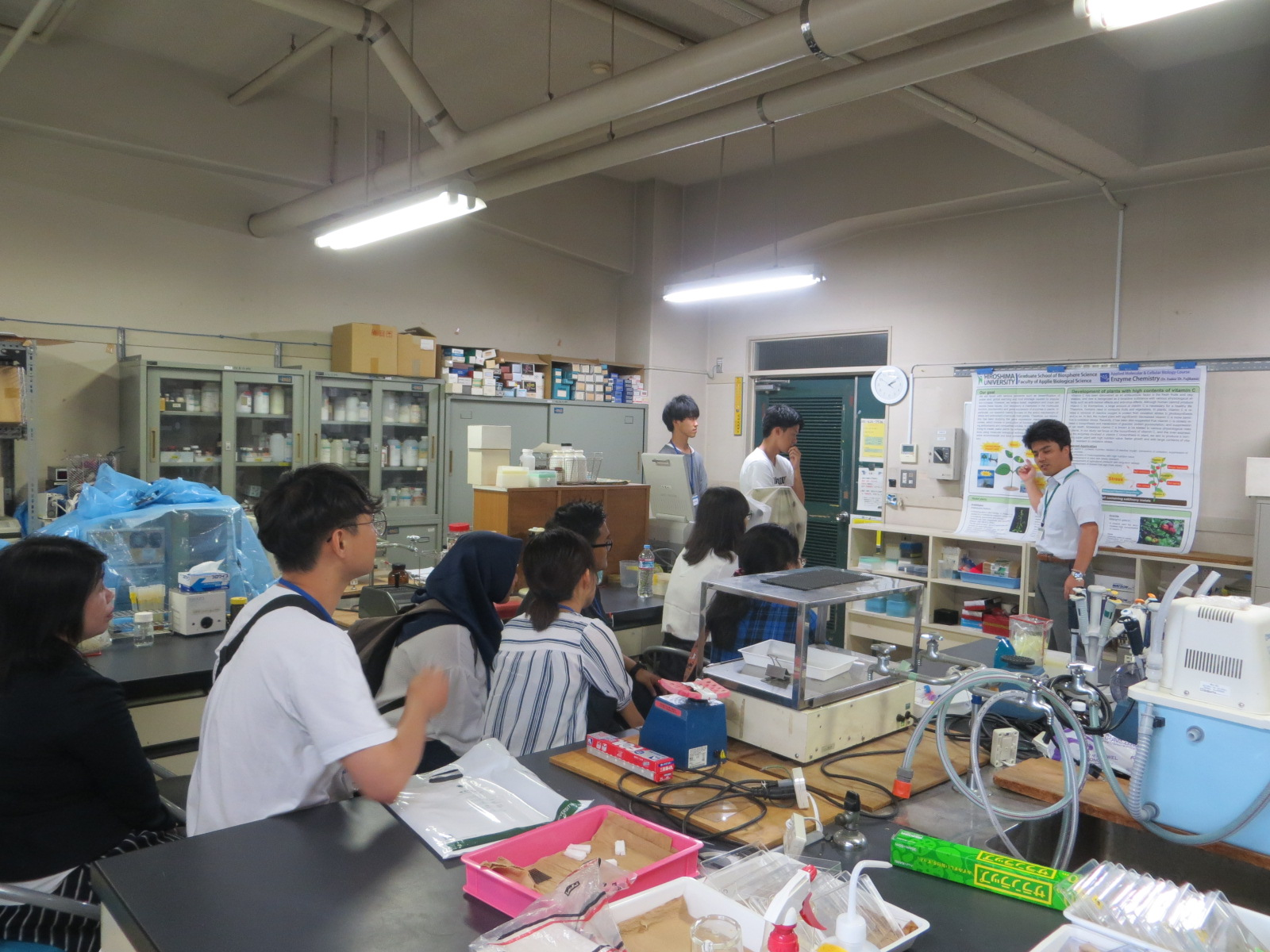 Visiting laboratories of the Graduate School of Biosphere Science