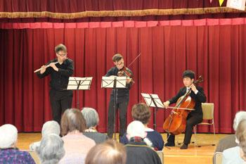 ウィーン国立音楽大学の学生と本学学生のコラボ演奏