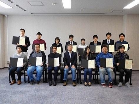 平成29年度エクセレントスチューデントスカラシップ表彰式