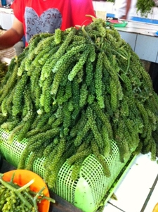 Sea grapes sold in traditional market