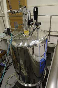 Superconducting nuclear magnetic resonance spectrometer.