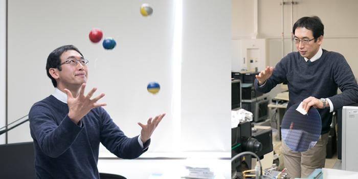 Associate Professor Kuroki juggling