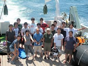 試料採集のための研究航海
