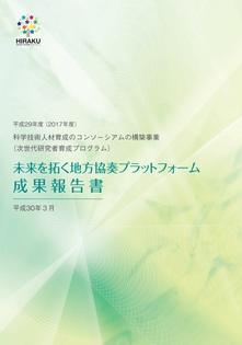平成29年度 未来を拓く地方協奏プラットフォーム成果報告書