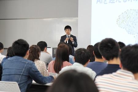 講演する池谷教授