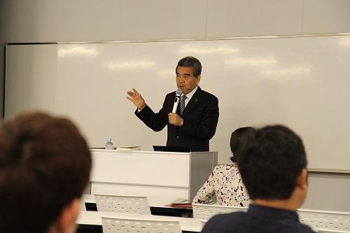 越智光夫学長が講演しました